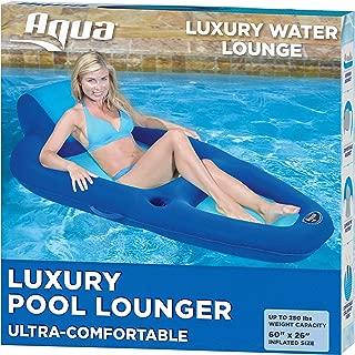 Aqua Fabric Comfort Recliner Water Lounge, X-Large, Pool Float, Blue/Aqua