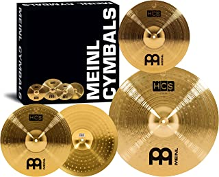 "Meinl Cymbal Set Box Pack with 14"" Hihats, 18"" Crash/Ride, Plus a FREE 14"" Crash – HCS Traditional Finish Brass – Made In Germany, TWO-YEAR WARRANTY (HCS1418+14C)"
