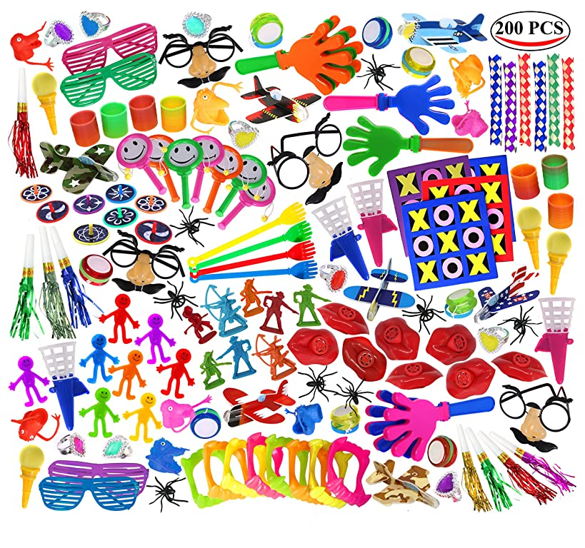 Smart Novelty Super Jumbo Toy Assortment Includes A Vast Variety of Over 200 Toys and Prizes for Parties, School Classroom Rewards, Carnival Prizes, Doctors/Dentists Office Prize Box Fillers (Sold