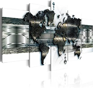 B&D XXL murando Impression sur Toile intissee 200x100 cm cm 5 Parties Tableau Tableaux Decoration Murale Photo Image Artis...