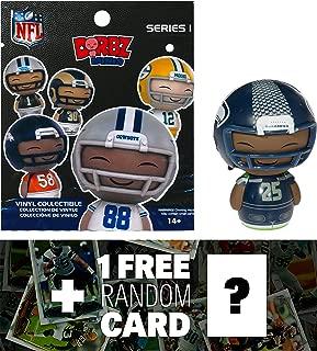 NFL Richard Sherman - Seahawks: Funko Mini Dorbz x Micro-Figure Wave #1 + 1 Free Official Trading Card Bundle (103213)