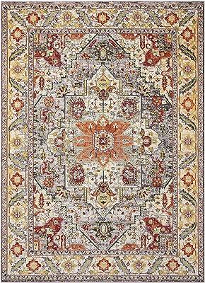 Loloi Loren Collection Vintage Printed Persian Area Rug 2 3 X 3 9 Terracotta Sky Furniture Decor