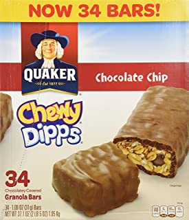 Quaker Chocolate Chip Chewy Dipps 1.09 oz. 34 count