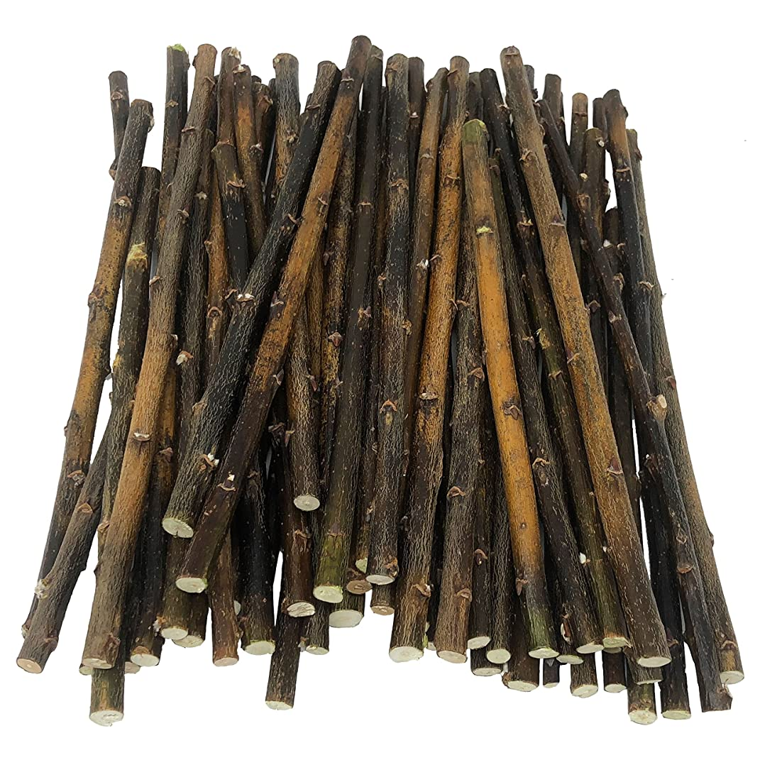 50 Nettleton Hollow Willow Wood Sticks, 8-12 inches long, 1/4-3/8 inch diameter