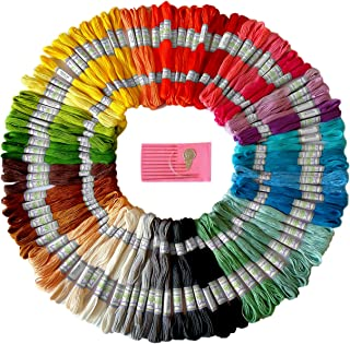Premium Rainbow Color Embroidery Floss - Cross Stitch...