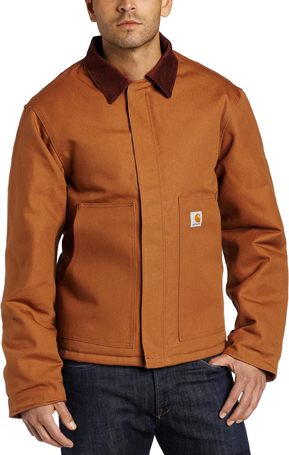 Amazon Com Carhartt Men S Big Tall Arctic Quilt Lined Duck Traditional Jacket J002 Work Utility Outerwear Clothing [ 1500 x 962 Pixel ]