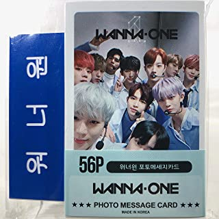 WANNA ONE ワナワン グッズ / フォト メッセージカード 56枚 (ミニ ポストカード 56枚) + ネームプレート (名札) セット - Photo Message Card 56pcs (Mini Post Card 56pcs) + Name Plate [TradePlace K-POP 韓国製]