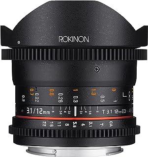 Rokinon Cine DS 12 mm T3.1 Ultra Wide Cine Fisheye Objektiv für Sony E Mount Wechselobjektivkameras (NEX) – Full Frame kompatibel