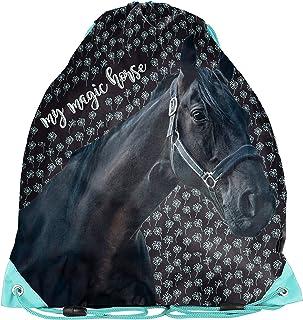 Ragusa-Trade Bolsa de deporte para aficionados a los caballos, bolsa de gimnasia, bolsa para zapatos para niños y niñas, 3...
