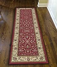 Radici 1596 COMO Rugs, 2-Feet 2 by 7-Feet 7-Feet, Red