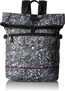 Sakroots Women's New Adventure Nylon Roll Top Backpack