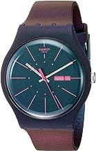 Swatch 1607 Archi-Mix Quartz Silicone Strap, Blue, 19 Casual Watch (Model: SUON708)