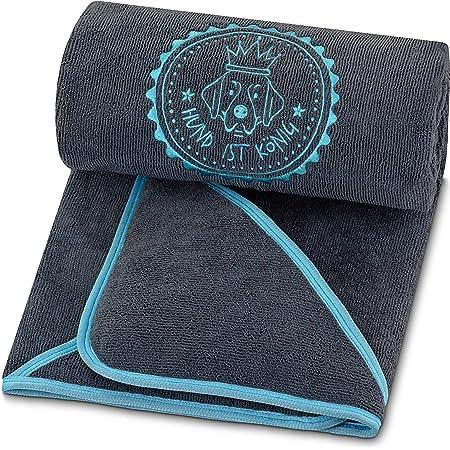 Winthome Hundehandtuch Hundehandtuch Extra Saugfähig Microfaser Handtücher Für Hunde Katzen Großer Hunde Bademantel Schnelltrocknend Warm 77x127cm Grau Haustier