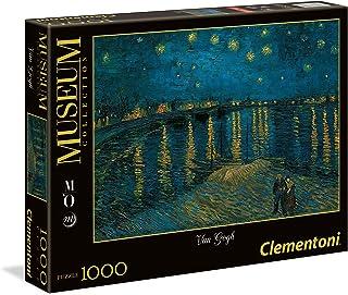 Clementoni - 39344.2 - Puzzle - Nuit étoilée sur le Rhône - 1000 Pièces