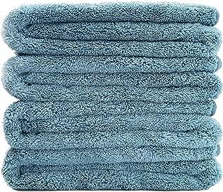 Polyte Premium Quick Dry Lint Free Microfiber Bath Towel, 57 x 30 in, Set of 4 (Blue)