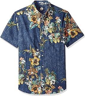 Reyn Spooner Men s Pupus and Mai Tais Weekend Wash Tailored Fit Hawaiian  Shirt f83c338db