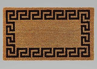 Printed Coco Coir Doormat Greek Key (Black)