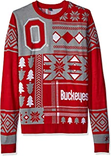 Ohio State Patches Ugly Crew Neck Sweater Extra Large