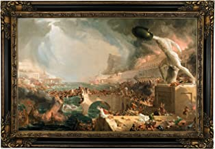 Historic Art Gallery The The Course of Empire - Destruction 1836 by Thomas Cole Framed Canvas Print, 19