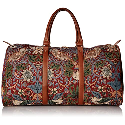 607485a760 William Morris Strawberry Thief Carry-on Overnight Weekender Travel Bag by  Signare