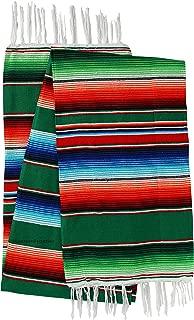 El Paso Designs Mexican Serape Blankets Bright & Colorful Saltillo Serape Blanket