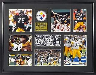 "Pittsburgh Steelers ""Here We Go Steelers!"" Patch Display (Feat. Steel Curtain, Polamalu, Bradshaw, Bettis, Roethlisberger, Harris, More!) Framed"