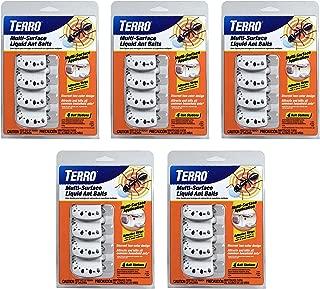 Terro T334 4 5 Pack Multi-Surface Liquid Ant 20 Discreet Bait Stations, White