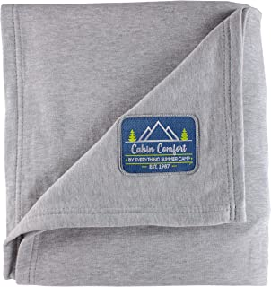 Sweatshirt Blanket Throw - Extra Large & Super Soft - for Outdoors, Travel, or Movie Night in - Over-Sized and Comfy - 54 x 84 Inches - 50/50 Cotton Polyester Blend