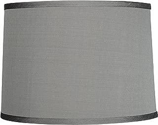 Platinum Gray Dupioni Silk Lamp Shade 13x14x10 (Spider) - Brentwood