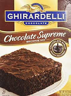 Ghirardelli Chocolate SUPREME Brownie Mix (Pack of 2) 18.75 oz Boxes