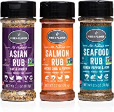 Fire & Flavor Natural Seasonings (Asian, Salmon, and Seafood, 3)
