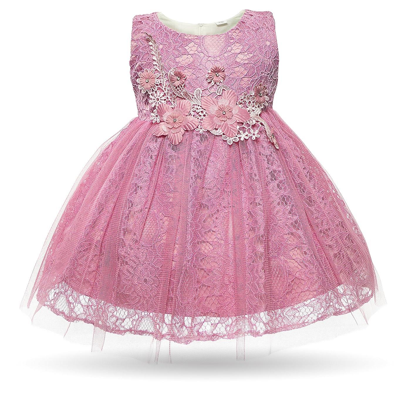 CIELARKO Baby Girl Dress Infant Flower Lace Wedding Party Dresses for 0-24 Months …