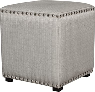 Hillsdale Furniture Lani Vanity Stool, Light Linen Gray