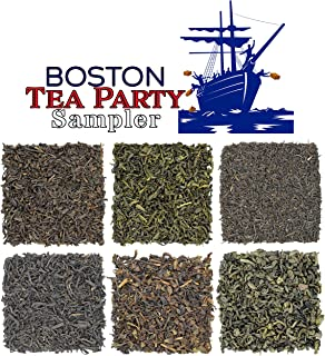 Boston Tea Party Tea Sampler, 6 Assorted Loose Leaf Tea Sampler, All The Historical Teas Thrown Over During The Boston Tea Party, Approx. 90+Cups