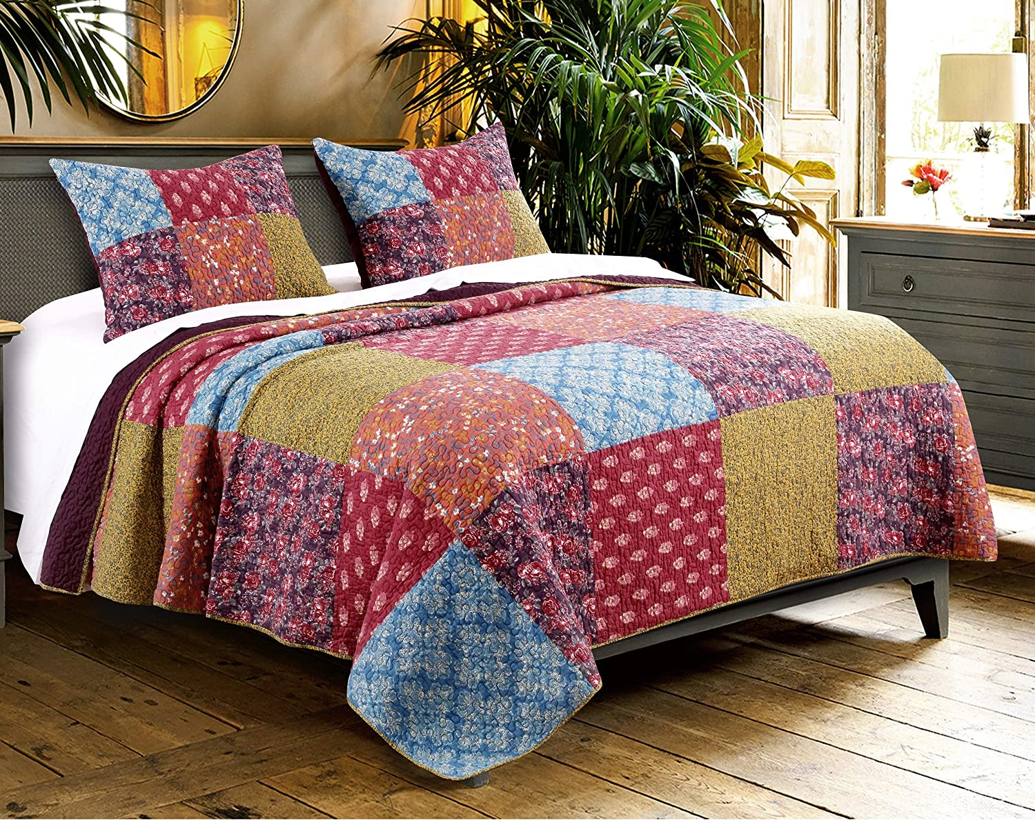 Barefoot Bungalow Normandy Quilt Portland Mall Omaha Mall Multi Set King