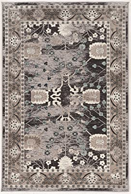 Linon Vintage Collection Blue 8'X10', Gray Zeigler Grey Synthetic Rugs, 8' x 10'