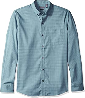 Men's Slim Fit Flex Long Sleeve Button Down Stretch Solid Shirt