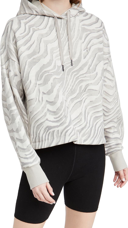 Sweaty Betty Women's Essentials Hoodie, Light Grey Zebra Print, Medium