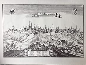 Rothenburg o.d.T. Germany Copperplate Engraving Matthäus 1648