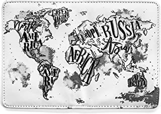 Passport Cover Fine Vegan Leather Vintage World Map by AddAPin