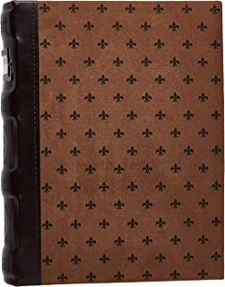 Bellagio-Italia Chestnut DVD Storage Binder - Stores Up to 48 DVDs, CDs, or Blu-Rays - Stores DVD Cover Art - Acid-Free Sh...