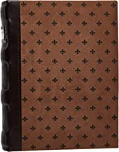 Bellagio-Italia Chestnut DVD Storage Binder - Stores Up to 48 DVDs, CDs, or Blu-Rays - Stores DVD Cover Art - Acid-Free Sheets