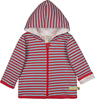 Loud + Proud Wendejacke mit Kapuze, GOTS Zertifiziert Jacket, Chili, 98/104 Mixte bébé