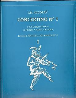 CONCERTINO No1 pour violon et piano en la mineur