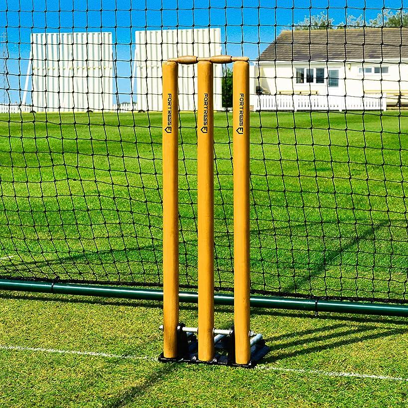 Fortress Spring Back Cricket Stumps - Standard Size - Cricket Training Equipment