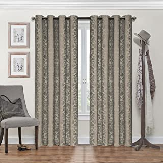 Eclipse Nadya Print Thermal Insulated Single Panel Grommet Top Darkening Curtains for Living Room, 52