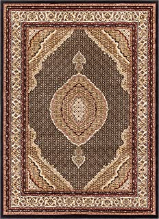 Well Woven Gallery Medallion Black Traditional Oriental Persian 2x3 (2'3