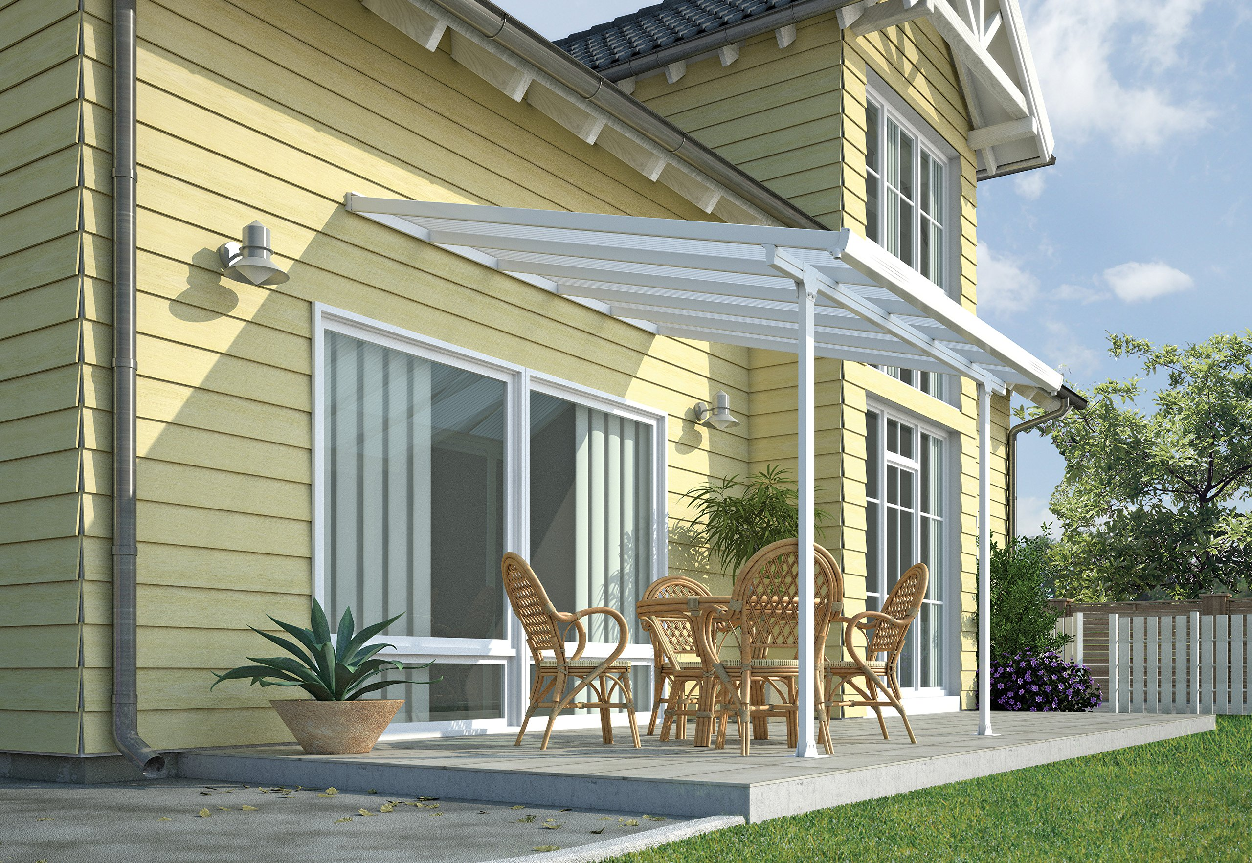 Palram Pergola Patio Cover Feria 3 x 3.05m with Robust Structure for Year-Round  sc 1 st  Amazon UK & Patio Canopy: Amazon.co.uk