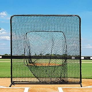 Baseball Sock Net Screen – Pro Quality 7ft x 7ft Baseball Hitting Net for Soft Toss and Hitting Tee Practice [Net World Sports]