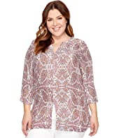 B Collection by Bobeau - Plus Size Hadil Woven Kaftan